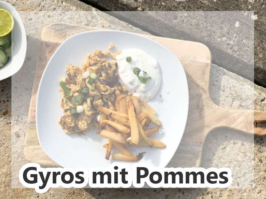 Gyros mit Pommes  Rezepte Strenge Phase